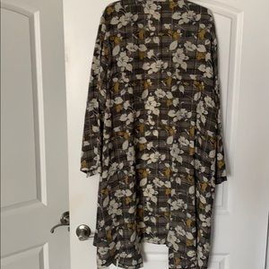 Gibson Latimer Floral Print Long Jacket